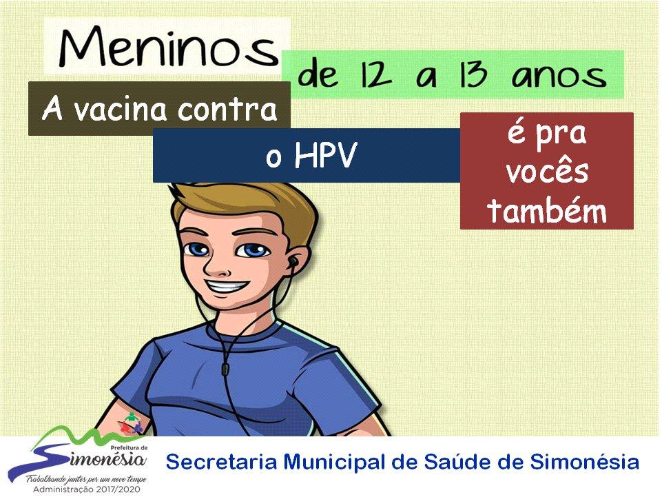 Vacina contra HPV também para meninos