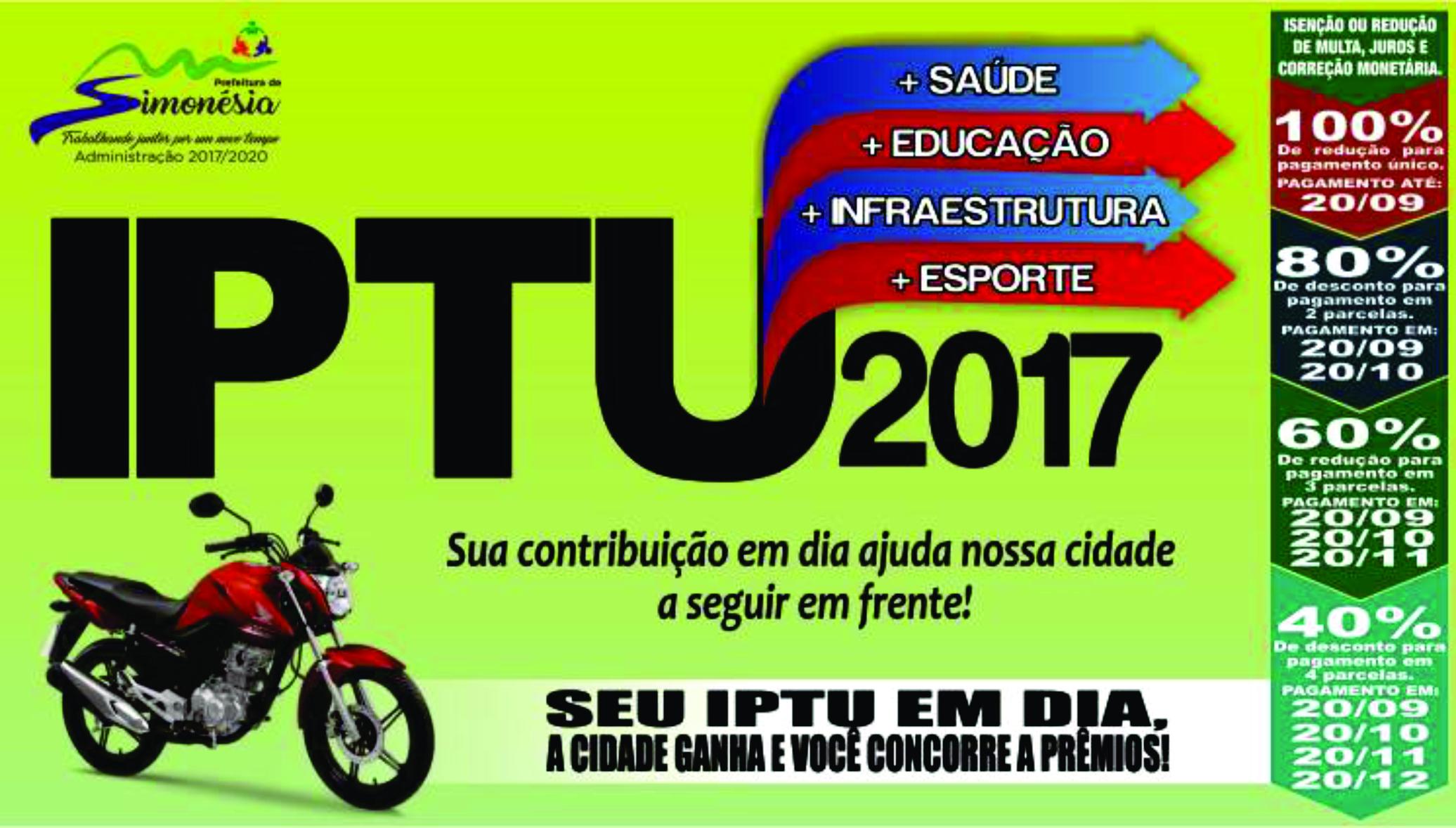 Campanha IPTU Premiado